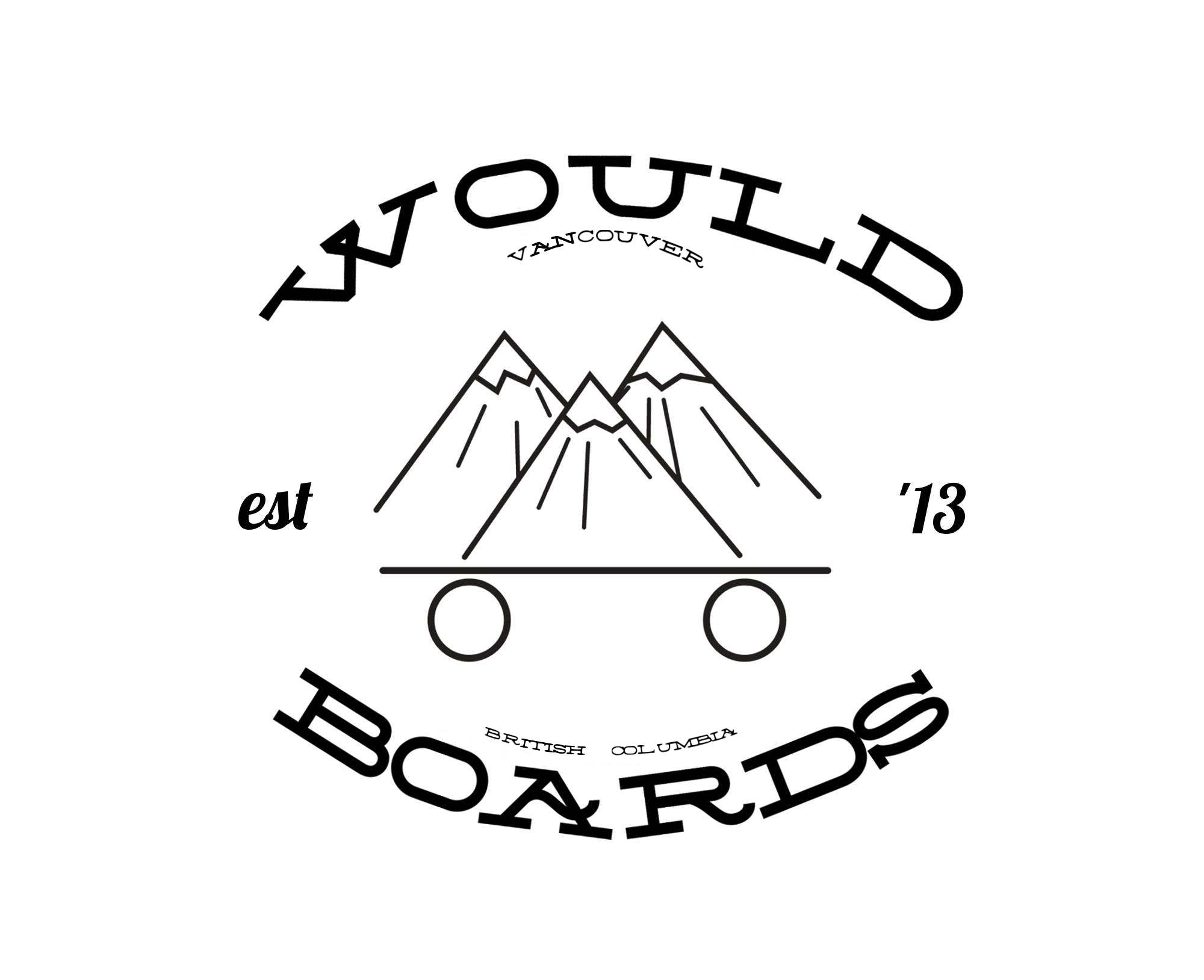 The Would Boards logo was inspired by Mount Seymour, Cypress and Grouse.