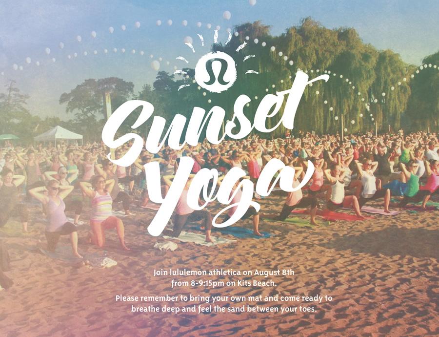 Sunset Yoga Lululemon