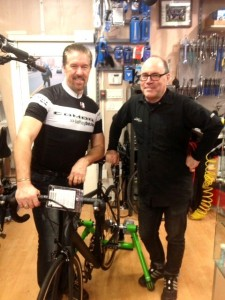 John Prowse Comor Bike Manager & Bruce Barton Brian Jessel BMW Parts Manager Photo Credit S.McCord